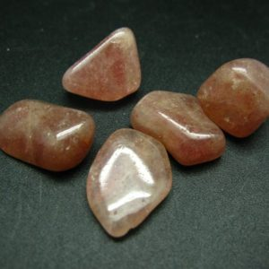 Shop Tumbled Aventurine Crystals & Pocket Stones! Lot of 5 natural Red Aventurine tumbled stones  from Brazil | Natural genuine stones & crystals in various shapes & sizes. Buy raw cut, tumbled, or polished gemstones for making jewelry or crystal healing energy vibration raising reiki stones. #crystals #gemstones #crystalhealing #crystalsandgemstones #energyhealing #affiliate #ad
