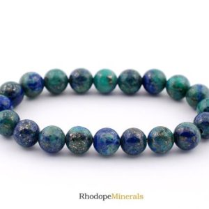 Shop Azurite Bracelets! 8mm Azurite With Malachite Bracelet, Azurite Bracelets 8 mm, Azurite Bracelet 8 mm, Azurite with Malachite beaded healing bracelet Azurite   Natural genuine Azurite bracelets. Buy crystal jewelry, handmade handcrafted artisan jewelry for women.  Unique handmade gift ideas. #jewelry #beadedbracelets #beadedjewelry #gift #shopping #handmadejewelry #fashion #style #product #bracelets #affiliate #ad