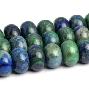 """8x5MM Azurite Beads Grade AAA Natural Gemstone Full Strand Rondelle Loose Beads 15"""" BULK LOT 1,3,5,10 and 50 (103168-711) 