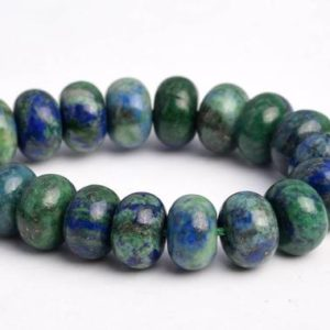 """8x5MM Azurite Beads Grade AAA Natural Gemstone Half Strand Rondelle Loose Beads 7.5"""" BULK LOT 1,3,5,10 and 50 (103168h-711) 