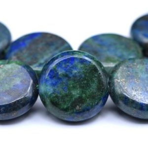 """Shop Azurite Beads! 16x5MM Azurite Beads Grade AAA Natural Gemstone Half Strand Flat Round Loose Beads 7.5"""" BULK LOT 1,3,5,10 and 50 (103183h-716)   Natural genuine beads Azurite beads for beading and jewelry making.  #jewelry #beads #beadedjewelry #diyjewelry #jewelrymaking #beadstore #beading #affiliate #ad"""