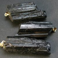 Lot Of Tree Terminated Natural Black Tourmaline Schorl Crystal Pendant From Brazil | Natural genuine Gemstone jewelry. Buy crystal jewelry, handmade handcrafted artisan jewelry for women.  Unique handmade gift ideas. #jewelry #beadedjewelry #beadedjewelry #gift #shopping #handmadejewelry #fashion #style #product #jewelry #affiliate #ad