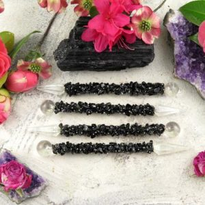 Black Tourmaline Wand – Crystal Wands | Natural genuine stones & crystals in various shapes & sizes. Buy raw cut, tumbled, or polished gemstones for making jewelry or crystal healing energy vibration raising reiki stones. #crystals #gemstones #crystalhealing #crystalsandgemstones #energyhealing #affiliate #ad
