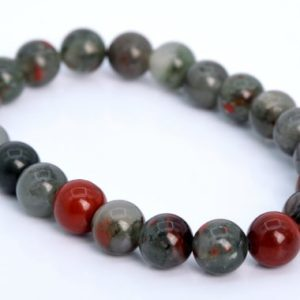 Shop Bloodstone Bracelets! 22 Pcs – 8MM Blood Stone Beads Bracelet Grade AAA Genuine Natural Round Gemstone (106659h-1353) | Natural genuine Bloodstone bracelets. Buy crystal jewelry, handmade handcrafted artisan jewelry for women.  Unique handmade gift ideas. #jewelry #beadedbracelets #beadedjewelry #gift #shopping #handmadejewelry #fashion #style #product #bracelets #affiliate #ad
