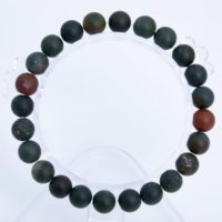 "8mm Matte Dark Green Blood Stone Beads Bracelet Grade Aaa Genuine Natural Round Gemstone 7"" Bulk Lot 1, 3, 5, 10 And 50 (106749h-075) 