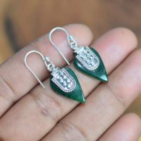 Bloodstone 925 Sterling Silver Hook Earring | Natural genuine Gemstone jewelry. Buy crystal jewelry, handmade handcrafted artisan jewelry for women.  Unique handmade gift ideas. #jewelry #beadedjewelry #beadedjewelry #gift #shopping #handmadejewelry #fashion #style #product #jewelry #affiliate #ad