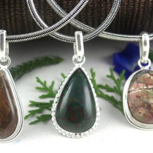 Shop Bloodstone Pendants! 1 Pendant,Sterling Silver Pendant,Bronzite,Blood stone,Natural Jasper,Pendants,Necklace Pendants,Stone Pendants,Jasper,Gemstone,Wholesale | Natural genuine Bloodstone pendants. Buy crystal jewelry, handmade handcrafted artisan jewelry for women.  Unique handmade gift ideas. #jewelry #beadedpendants #beadedjewelry #gift #shopping #handmadejewelry #fashion #style #product #pendants #affiliate #ad