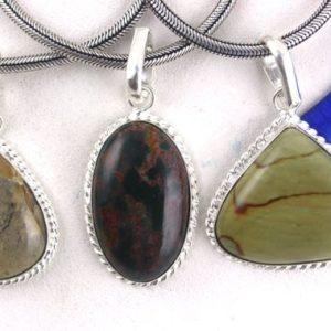 Shop Bloodstone Pendants! Amazing 1 Pendant,Sterling Silver Pendants,Natural Jasper,Polygram Jasper,Blood Stone,Pendant,Necklace Pendant,Stone Pendant,Jasper,Gemstone | Natural genuine Bloodstone pendants. Buy crystal jewelry, handmade handcrafted artisan jewelry for women.  Unique handmade gift ideas. #jewelry #beadedpendants #beadedjewelry #gift #shopping #handmadejewelry #fashion #style #product #pendants #affiliate #ad