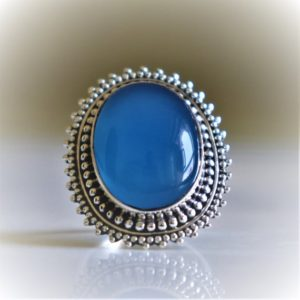 Shop Blue Chalcedony Rings! Blue Chalcedony Ring,925 Sterling Silver Handmade Jewelry, Natural Gemstone, Christmas Gift, Boho Ring, Dainty Trendy Navajo Gypsy Midi Ring | Natural genuine Blue Chalcedony rings, simple unique handcrafted gemstone rings. #rings #jewelry #shopping #gift #handmade #fashion #style #affiliate #ad