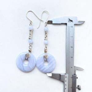 Shop Blue Lace Agate Earrings! Blue Lace Agate , long boho earrings Statement, gypsy earrings , mystical gift for her   Natural genuine Blue Lace Agate earrings. Buy crystal jewelry, handmade handcrafted artisan jewelry for women.  Unique handmade gift ideas. #jewelry #beadedearrings #beadedjewelry #gift #shopping #handmadejewelry #fashion #style #product #earrings #affiliate #ad