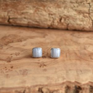Shop Blue Lace Agate Earrings! Blue Lace Agate Posts – Silversmith Earrings – Blue Lace Agate Earrings   Natural genuine Blue Lace Agate earrings. Buy crystal jewelry, handmade handcrafted artisan jewelry for women.  Unique handmade gift ideas. #jewelry #beadedearrings #beadedjewelry #gift #shopping #handmadejewelry #fashion #style #product #earrings #affiliate #ad