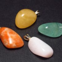 Calcite Candy!! Lot Of Four Natural Tumbled Multi Color Calcite Pendant Pendants | Natural genuine Gemstone jewelry. Buy crystal jewelry, handmade handcrafted artisan jewelry for women.  Unique handmade gift ideas. #jewelry #beadedjewelry #beadedjewelry #gift #shopping #handmadejewelry #fashion #style #product #jewelry #affiliate #ad