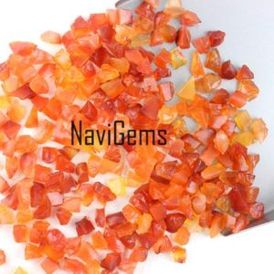AAA Quality 50 Pieces Natural Carnelian Rough,Loose Gemstone,6-8 mm approx,Rough Gemstone,Carnelian Rough,Making Jewelry,Undrilled,Wholesale | Natural genuine chip Carnelian beads for beading and jewelry making.  #jewelry #beads #beadedjewelry #diyjewelry #jewelrymaking #beadstore #beading #affiliate #ad