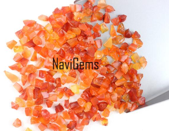 Aaa Quality 50 Pieces Natural Carnelian Rough,loose Gemstone,6-8 Mm Approx,rough Gemstone,carnelian Rough,making Jewelry,undrilled,wholesale