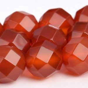 """Shop Carnelian Faceted Beads! 10mm Carnelian Beads Aaa Genuine Natural Gemstone Full Strand Faceted Round Square Cut Loose Beads 15.5"""" Bulk Lot 1, 3, 5, 10, 50 (103194-730) 