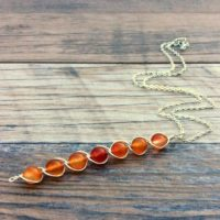 Carnelian Necklace, Sacral Chakra, Sterling Or 14k Gold Filled   Natural genuine Gemstone jewelry. Buy crystal jewelry, handmade handcrafted artisan jewelry for women.  Unique handmade gift ideas. #jewelry #beadedjewelry #beadedjewelry #gift #shopping #handmadejewelry #fashion #style #product #jewelry #affiliate #ad