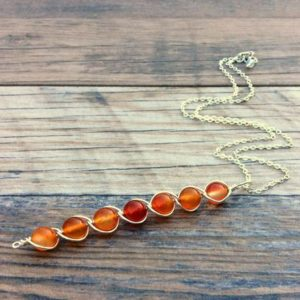 Shop Carnelian Necklaces! Carnelian necklace, Sacral chakra, Sterling or 14k Gold filled | Natural genuine Carnelian necklaces. Buy crystal jewelry, handmade handcrafted artisan jewelry for women.  Unique handmade gift ideas. #jewelry #beadednecklaces #beadedjewelry #gift #shopping #handmadejewelry #fashion #style #product #necklaces #affiliate #ad