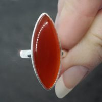 Candied Orange – Faceted Carnelian Sterling Silver Ring Size 8.5 | Natural genuine Gemstone jewelry. Buy crystal jewelry, handmade handcrafted artisan jewelry for women.  Unique handmade gift ideas. #jewelry #beadedjewelry #beadedjewelry #gift #shopping #handmadejewelry #fashion #style #product #jewelry #affiliate #ad