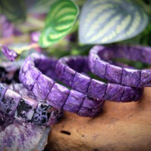 Shop Charoite Bracelets! 12-19mm Charoite Square, Rectangle Beaded Bangle Purple, Black High-Quality Stretch | Natural genuine Charoite bracelets. Buy crystal jewelry, handmade handcrafted artisan jewelry for women.  Unique handmade gift ideas. #jewelry #beadedbracelets #beadedjewelry #gift #shopping #handmadejewelry #fashion #style #product #bracelets #affiliate #ad