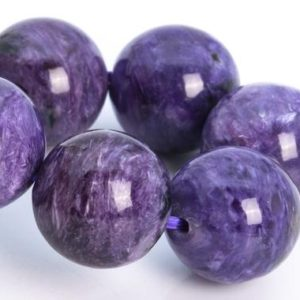 """Shop Charoite Bracelets! 13MM Charoite Beads Deep Purple Bracelet Grade AA Genuine Natural Round Gemstone 8"""" (115239h-3848) 