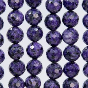 Shop Charoite Faceted Beads! 39 / 19 Pcs – 10MM Deep Purple Charoite Beads Grade A Natural Micro Faceted Round Loose Beads (109614) | Natural genuine faceted Charoite beads for beading and jewelry making.  #jewelry #beads #beadedjewelry #diyjewelry #jewelrymaking #beadstore #beading #affiliate #ad