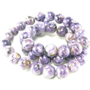 """Shop Charoite Necklaces! Charoite AAA Quality Necklace Round Beads From Russia – 19"""" 