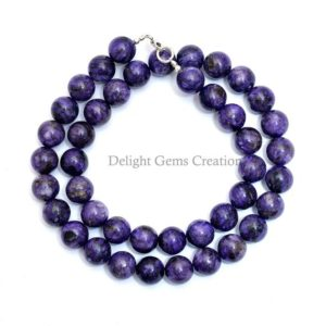 Shop Charoite Necklaces! Charoite Beaded Necklace, 10mm Purple Charoite Smooth Round Beads Necklace, Aaa++ Charoite Designer Necklace Jewelry- 18 Inches Necklace | Natural genuine Charoite necklaces. Buy crystal jewelry, handmade handcrafted artisan jewelry for women.  Unique handmade gift ideas. #jewelry #beadednecklaces #beadedjewelry #gift #shopping #handmadejewelry #fashion #style #product #necklaces #affiliate #ad