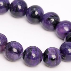 """Shop Charoite Round Beads! 11MM Dark Color Charoite Beads Russia Grade A Genuine Natural Gemstone Half Strand Round Loose Beads 7.5"""" Bulk Lot Options (108970h-2835) 
