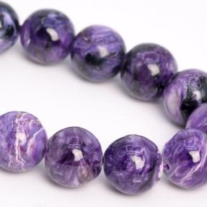 """Shop Charoite Round Beads! 11MM Deep Color Charoite Beads Russia Grade AA Genuine Natural Gemstone Half Strand Round Loose Beads 7.5"""" Bulk Lot Options (108973h-2836) 
