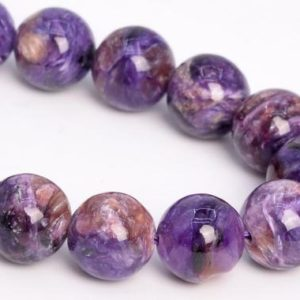"""Shop Charoite Round Beads! 11MM Multicolor Charoite Beads Russia Grade A+ Genuine Natural Gemstone Half Strand Round Loose Beads 7.5"""" Bulk Lot Options (108972h-2835) 