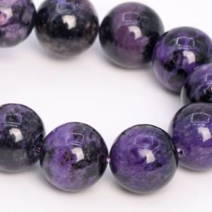 """Shop Charoite Round Beads! 13MM Dark Color Charoite Beads Russia Grade A+ Genuine Natural Gemstone Half Strand Round Loose Beads 7.5"""" Bulk Lot Options (108986h-2839) 