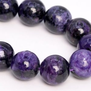 """Shop Charoite Round Beads! 13MM Dark Color Charoite Beads Russia Grade A Genuine Natural Gemstone Half Strand Round Loose Beads 7.5"""" Bulk Lot Options (108984h-2838) 