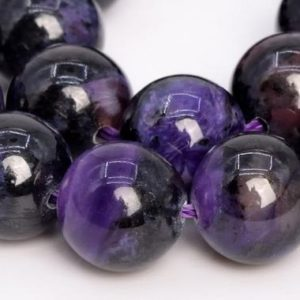 Shop Charoite Round Beads! 21 Pcs – 9MM Dark Color Charoite Beads Russia Grade A Genuine Natural Round Gemstone Loose Beads (108949) | Natural genuine round Charoite beads for beading and jewelry making.  #jewelry #beads #beadedjewelry #diyjewelry #jewelrymaking #beadstore #beading #affiliate #ad
