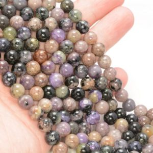 Shop Charoite Round Beads! 8MM Genuine Purple Charoite Gemstone Grade AB Round Loose Beads 15.5 inch Full Strand (80009659-A181) | Natural genuine round Charoite beads for beading and jewelry making.  #jewelry #beads #beadedjewelry #diyjewelry #jewelrymaking #beadstore #beading #affiliate #ad