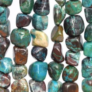 32-40 / 16-20 Pcs – 8-10mm Chrysocolla Beads Grade A Genuine Natural Pebble Nugget Gemstone Loose Beads (108045) | Natural genuine chip Chrysocolla beads for beading and jewelry making.  #jewelry #beads #beadedjewelry #diyjewelry #jewelrymaking #beadstore #beading #affiliate #ad