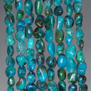 5-6MM  Chrysocolla Quantum Quattro Gemstone Pebble Nugget Granule Loose Beads 7.5 inch Half Strand (80001932 H-A33) | Natural genuine chip Chrysocolla beads for beading and jewelry making.  #jewelry #beads #beadedjewelry #diyjewelry #jewelrymaking #beadstore #beading #affiliate #ad