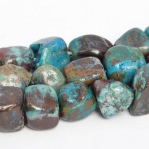 """8-10MM  Chrysocolla  Beads Pebble Nugget Grade A Genuine Natural Gemstone Full Strand Loose Beads 15.5"""" Bulk Lot Options (108045-2624) 