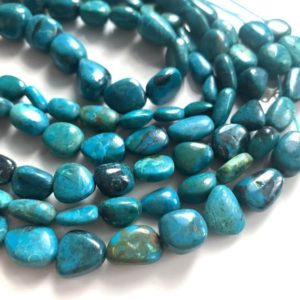 Shop Chrysocolla Chip & Nugget Beads! Chrysocolla smooth polished nuggets | Natural genuine chip Chrysocolla beads for beading and jewelry making.  #jewelry #beads #beadedjewelry #diyjewelry #jewelrymaking #beadstore #beading #affiliate #ad