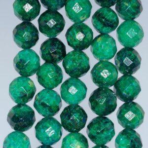 Shop Chrysocolla Faceted Beads! 12mm Chrysocolla Quantum Quattro Gemstone Faceted Round Loose Beads 7.5 Inch Half Strand (90182721-a137)   Natural genuine faceted Chrysocolla beads for beading and jewelry making.  #jewelry #beads #beadedjewelry #diyjewelry #jewelrymaking #beadstore #beading #affiliate #ad