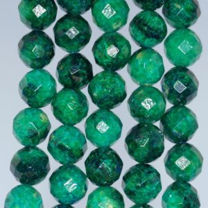 Shop Chrysocolla Faceted Beads! 12mm Chrysocolla Quantum Quattro Gemstone Faceted Round Loose Beads 15.5 Inch Full Strand (90182624-a137)   Natural genuine faceted Chrysocolla beads for beading and jewelry making.  #jewelry #beads #beadedjewelry #diyjewelry #jewelrymaking #beadstore #beading #affiliate #ad