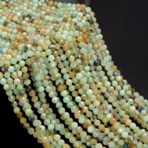 Shop Chrysocolla Faceted Beads! 4MM Shattuckite Chrysocolla Gemstone Genuine Light Green Blue Micro Faceted Round Grade Aa Beads 15inch BULK LOT (80010200-A193)   Natural genuine faceted Chrysocolla beads for beading and jewelry making.  #jewelry #beads #beadedjewelry #diyjewelry #jewelrymaking #beadstore #beading #affiliate #ad