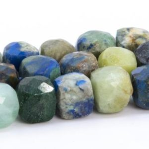 """Shop Chrysocolla Faceted Beads! 5x5MM Chrysocolla Beads Faceted Cube Grade A Genuine Natural Gemstone Loose Beads 15.5"""" / 7.5""""Bulk Lot Options (113472)   Natural genuine faceted Chrysocolla beads for beading and jewelry making.  #jewelry #beads #beadedjewelry #diyjewelry #jewelrymaking #beadstore #beading #affiliate #ad"""