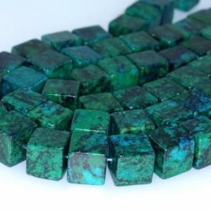 Shop Chrysocolla Bead Shapes! 13MM  Chrysocolla Quantum Quattro Gemstone Square Cube Loose Beads 15.5 inch Full Strand (90182657-A138)   Natural genuine other-shape Chrysocolla beads for beading and jewelry making.  #jewelry #beads #beadedjewelry #diyjewelry #jewelrymaking #beadstore #beading #affiliate #ad