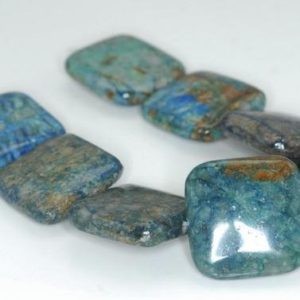 Shop Chrysocolla Bead Shapes! 25X25mm Green Blue Chrysocolla Gemstone Square Beads 7.5 inch Half Strand BULK LOT 1,2,6,12 and 50 (90188507-675)   Natural genuine other-shape Chrysocolla beads for beading and jewelry making.  #jewelry #beads #beadedjewelry #diyjewelry #jewelrymaking #beadstore #beading #affiliate #ad