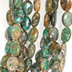 Shop Chrysocolla Bead Shapes! FREE USA Ship Chrysocolla Gemstone Green Blue Flat Oval 18x13mm Loose Beads 15.5 inch Full Strand (90111945-210A)   Natural genuine other-shape Chrysocolla beads for beading and jewelry making.  #jewelry #beads #beadedjewelry #diyjewelry #jewelrymaking #beadstore #beading #affiliate #ad
