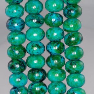 Shop Chrysocolla Rondelle Beads! 10x14mm Chrysocolla Quantum Quattro Gemstone Rondelle Loose Beads 7.5 Inch Half Strand (90182642-a140) | Natural genuine rondelle Chrysocolla beads for beading and jewelry making.  #jewelry #beads #beadedjewelry #diyjewelry #jewelrymaking #beadstore #beading #affiliate #ad