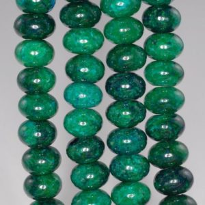 Shop Chrysocolla Rondelle Beads! 12x8mm Chrysocolla Quantum Quattro Gemstone Rondelle Loose Beads 7.5 Inch Half Strand (90182641-a140) | Natural genuine rondelle Chrysocolla beads for beading and jewelry making.  #jewelry #beads #beadedjewelry #diyjewelry #jewelrymaking #beadstore #beading #affiliate #ad