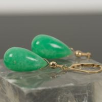 Genuine Chrysoprase Drop Earrings, Green Gemstone Earrings | Natural genuine Gemstone jewelry. Buy crystal jewelry, handmade handcrafted artisan jewelry for women.  Unique handmade gift ideas. #jewelry #beadedjewelry #beadedjewelry #gift #shopping #handmadejewelry #fashion #style #product #jewelry #affiliate #ad