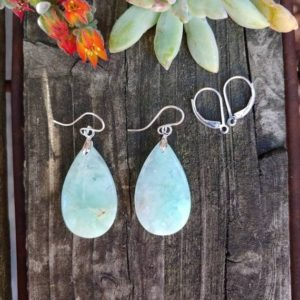 Shop Chrysoprase Earrings! Teardrop Chrysoprase earrings. Sterling silver Chrysoprase earrings. | Natural genuine Chrysoprase earrings. Buy crystal jewelry, handmade handcrafted artisan jewelry for women.  Unique handmade gift ideas. #jewelry #beadedearrings #beadedjewelry #gift #shopping #handmadejewelry #fashion #style #product #earrings #affiliate #ad