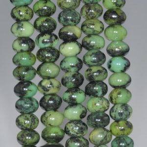 Shop Chrysoprase Rondelle Beads! 10X6MM Black Green Chrysoprase Gemstone Grade A Rondelle Loose Beads 7.5 inch Half Strand (80000542 H-A72)   Natural genuine rondelle Chrysoprase beads for beading and jewelry making.  #jewelry #beads #beadedjewelry #diyjewelry #jewelrymaking #beadstore #beading #affiliate #ad